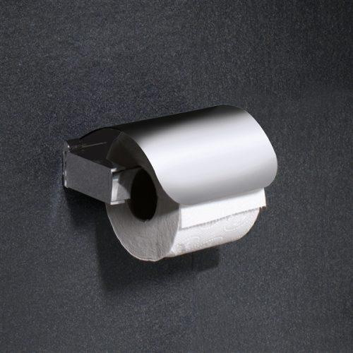 Gedy Kent Toilet Roll Holder with Flap In Chrome 5525-13