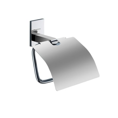 Gedy Maine Toilet Roll Holder With Flap - Chrome 7825-13