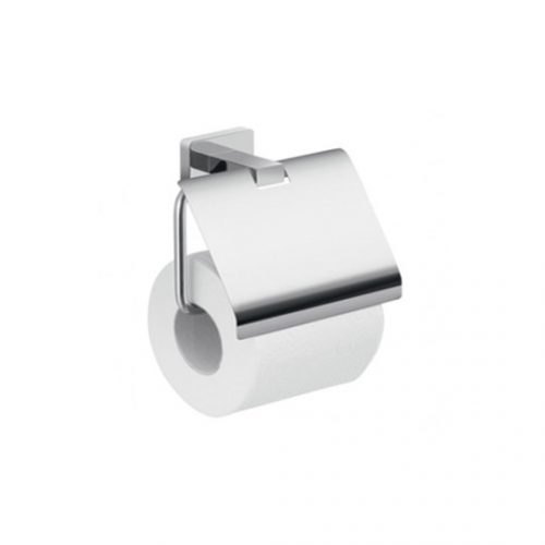 Gedy Atena Bathroom Toilet Roll Holder with Cover 4425-13