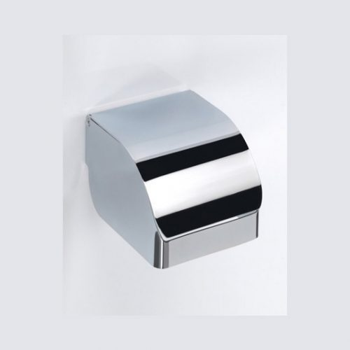Gedy Covered Toilet Roll Holder In Chrome 2525-13