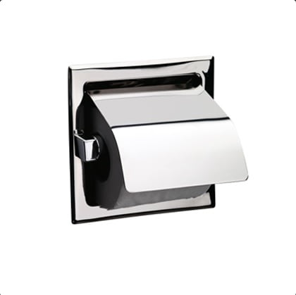 Sonia Wall Recessed Toilet Roll Holder with Flap 025107