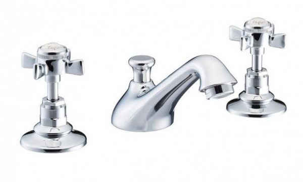 St James England Cross Top 3 Hole Basin Mixer SJ400AGEHSD