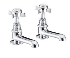 St James England Cross Top Basin Taps SJ150CPEHSD