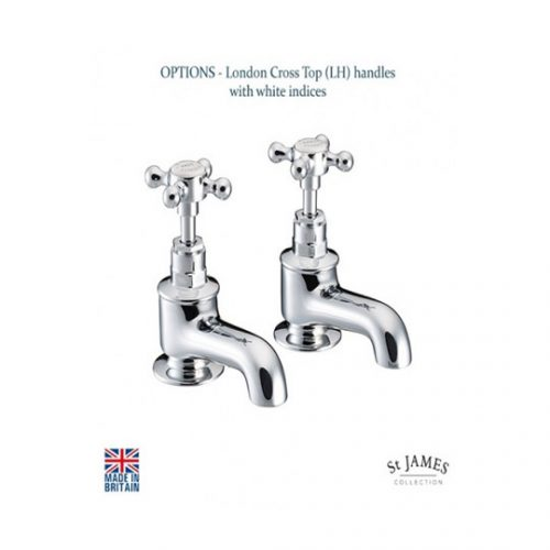 St James London Cross Handle Bath Taps SJ110CPLHSD