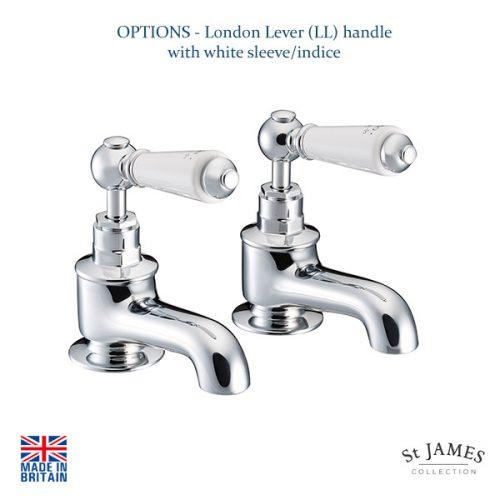 St James London Handle Bath Taps SJ110CPLL