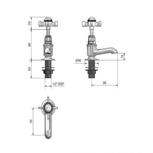 St James Collection Cloakroom Basin Taps SJ100CPLHSD