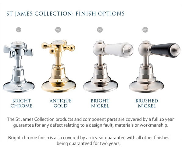 St James Collection England Cross Top Mono Basin Mixer SJ410CPEH