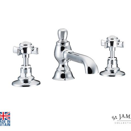 St James Collection England Handle 3H Basin Mixer SJ402CPEHSD
