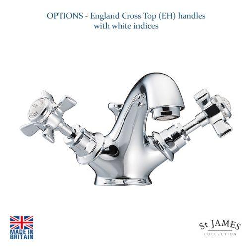 St James Collection England Cross Top Mono Basin Mixer SJ410CPEH