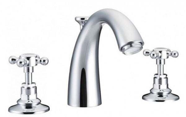 St James London Cross Top 3 Hole Basin Mixer SJ404CPLH
