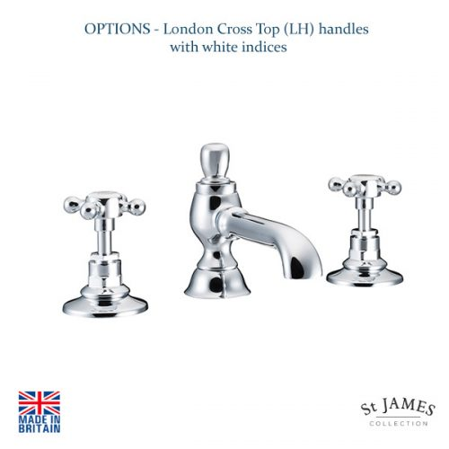 St James Collection London Handle 3 Hole Basin Mixer SJ402CPLH