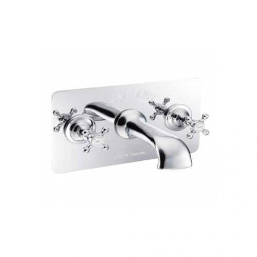 St James Wall Mounted 3 Hole Bath Filler SJ376CPLHSD