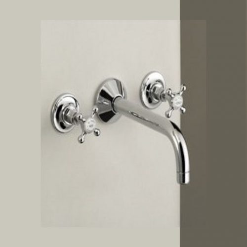 St James 3 Hole Wall Mounted Basin Mixer SJ440CPLH