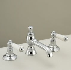 St James Collection London Lever White 3H Basin Mixer SJ402CPLL