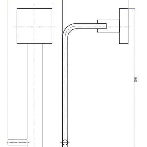 Crosswater Zeya Toilet Roll Holder Chrome ZE029C