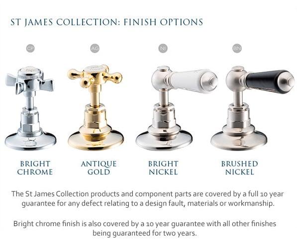 St James White Easy Clean Handset SJHSCPEC