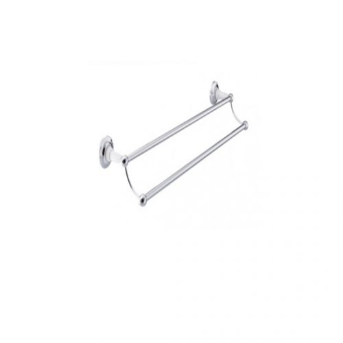 St James Double Towel Rail Metal Stems SJ618CPMS