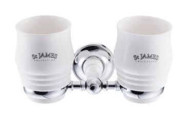 St James Double Tumbler And Holder SJ626CPPSBK