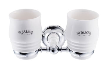 St James Double Tumbler And Holder SJ626CPMS