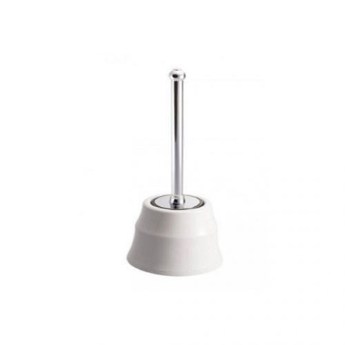 St James Floor Standing Toilet Brush And Ceramic Holder SJER623CP