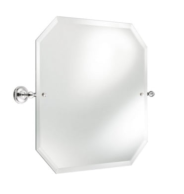 St James 600 x 600mm Octagonal Mirror With White Stem SJ637CPPS