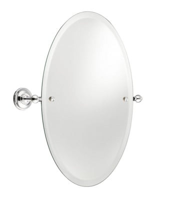 St James 540 x 370mm Oval Mirror SJ606CPPSBK