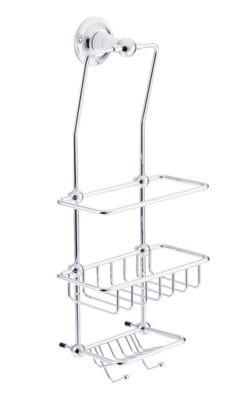 St James Shower Tidy With White Stem SJ620CPPS