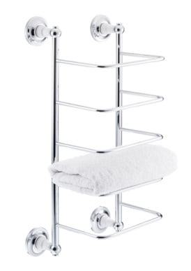 St James Towel Rack White Porcelain Stems SJ627CPPS