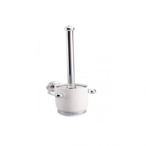 St James Wall Mounted Toilet Brush And Ceramic Holder SJER621CP