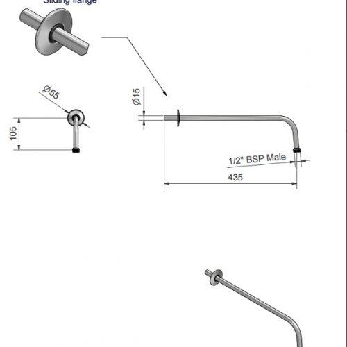 St James 15mm Shower Arm SJK4CPLR