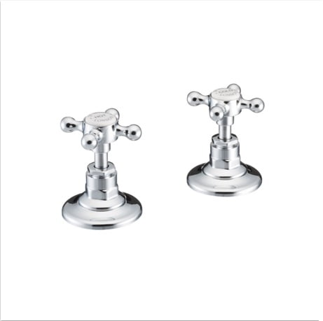 St James England Handle Wall Mounted Bath Valves SJ600CPEHBK