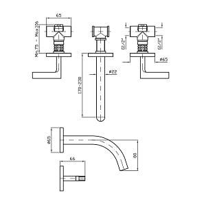 Zucchetti Simply Beautiful 3 Hole Built In Mixer ZSB5699