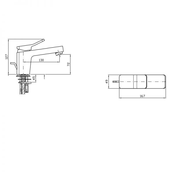 Zucchetti Soft 1H Single Lever Basin Mixer ZP7244