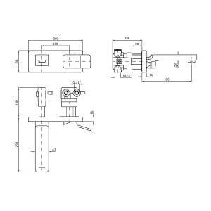 Zucchetti Soft Wall Mounted Basin Mixer Tap ZP7292