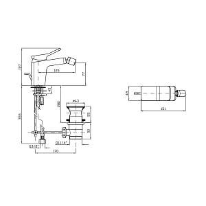 Zucchetti Soft 1 Hole Bidet Mixer Tap and Puw ZP7329