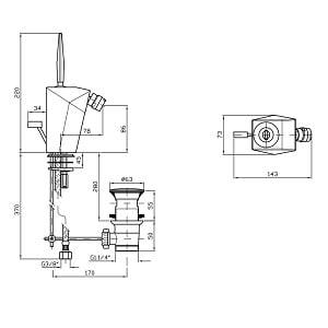 Zucchetti Wosh Single Lever Bidet Mixer Tap ZW1344