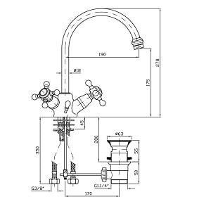 Zucchetti Agora Chrome Single Hole Basin Mixer ZAG262