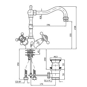 Zucchetti Agora Chrome Single Hole Basin Mixer ZAG362
