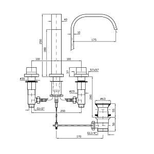 Zucchetti Aguablu 3H Basin Mixer ZA5416