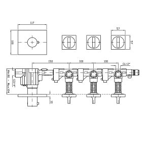 Zucchetti Aguablu 4H Thermostatic Valve ZA5098