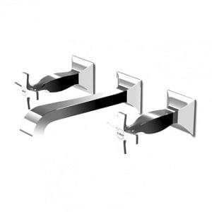 Zucchetti Bellagio Wall Mounted 3H Basin Mixer ZB1699