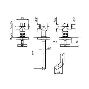 Zucchetti Isyarc 3 Hole Bath Shower Mixer ZD3698