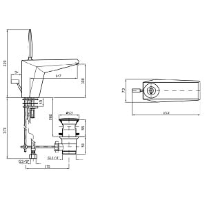 Zucchetti Wosh Single Lever Basin Mixer ZW1192