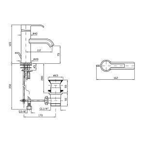 Zucchetti On Single Lever Basin Mixer With Waste ZON595