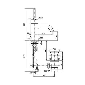 Zucchetti Pan+ Single Lever Basin Mixer ZP8214