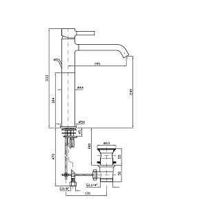 Zucchetti Pan 2 Hole Single Lever Basin Mixer ZP6224