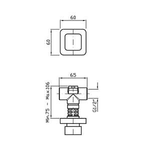 """Zucchetti Soft Wall Mounted 1/2"""" Valve ZP7729"""