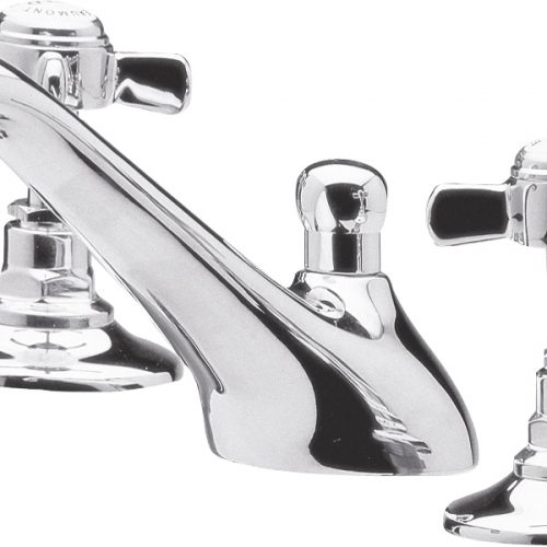 Premier Chrome Beaumont 3TH Basin Mixer With Waste I307X