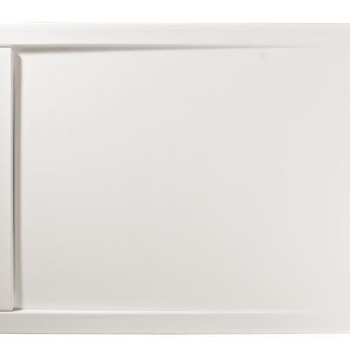 Roman Infinity matt white 1000mm x 800mm shower tray