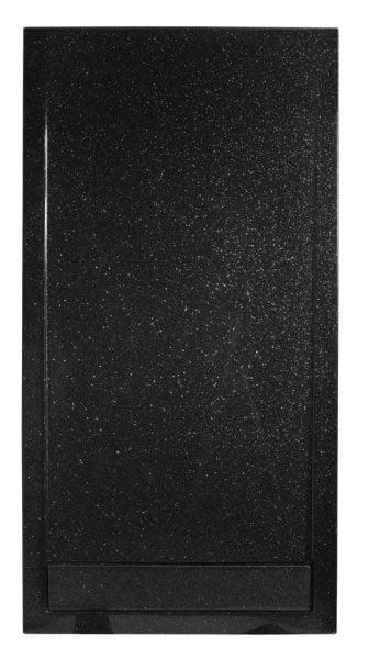 Roman Infinity shimmer black 1000mm x 800mm shower tray